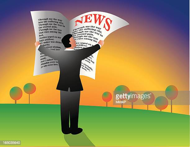 morning news - monthly event stock illustrations