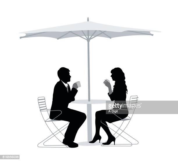 ilustrações, clipart, desenhos animados e ícones de café da manhã do pátio - mesa mobília