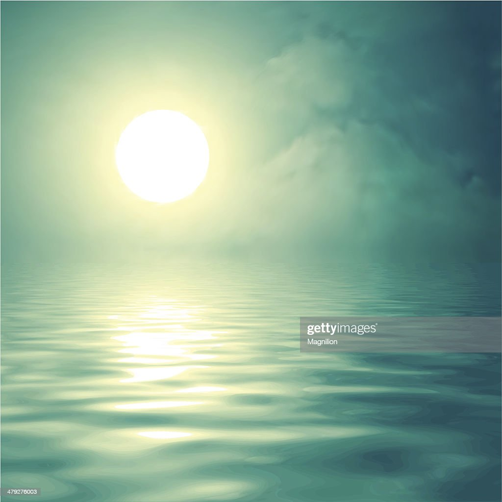 Morning sun over the water