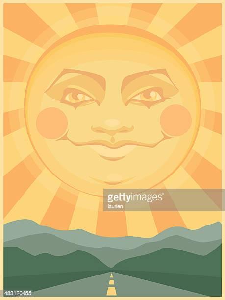 ilustraciones, imágenes clip art, dibujos animados e iconos de stock de sol de la mañana - sol en la cara