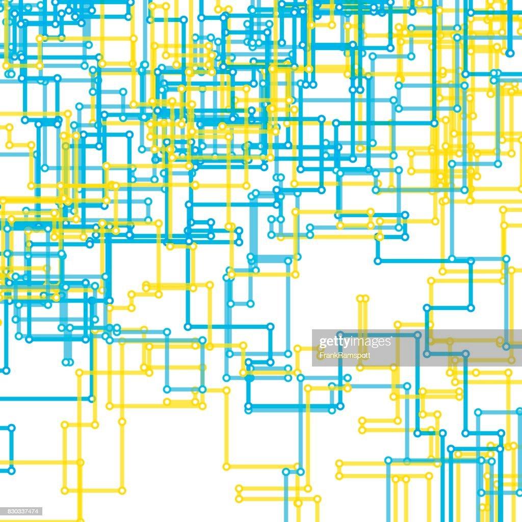 Morgen Vektormuster rechteckige Circuit Line : Stock-Illustration