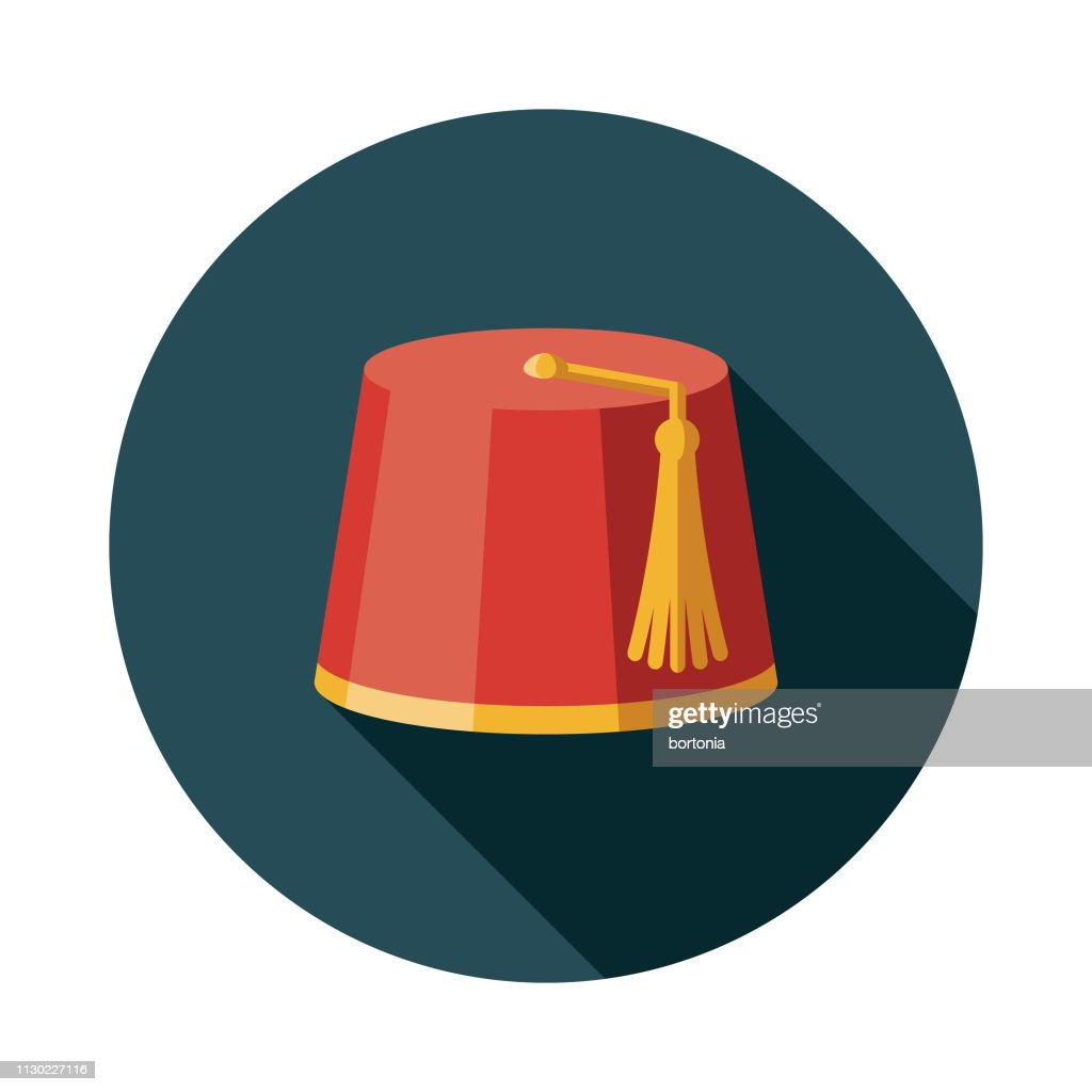 Moroccan Fez Hat Icon : stock illustration