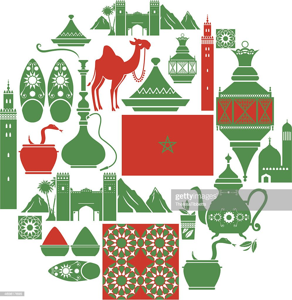Moroccan Icon Set : stock illustration