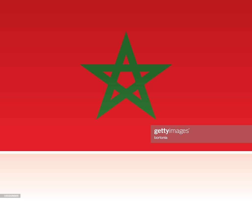 Morocco Country Flag, Northern Africa : stock illustration