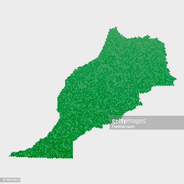 Marokko-Land-Map-grünen Sechseck-Muster