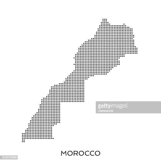 Morocco dot halftone pattern map