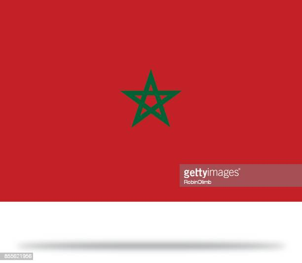 morocco flag with shadow - morocco stock illustrations, clip art, cartoons, & icons