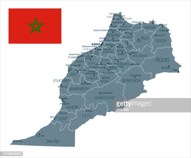 30 - Morocco - Grayscale Isolated 10