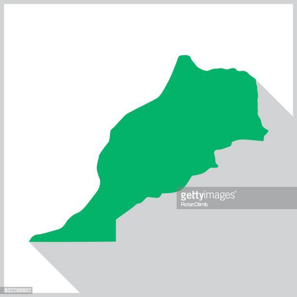 morocco green map icon - morocco stock illustrations, clip art, cartoons, & icons