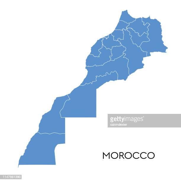 illustrations, cliparts, dessins animés et icônes de carte du maroc - maroc