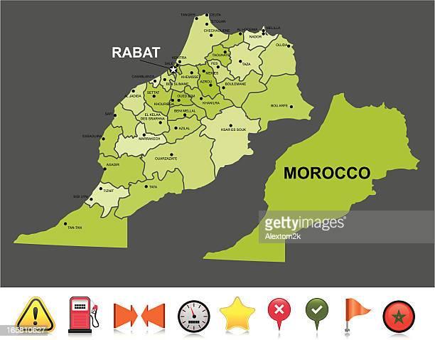morocco navigation map - morocco stock illustrations, clip art, cartoons, & icons