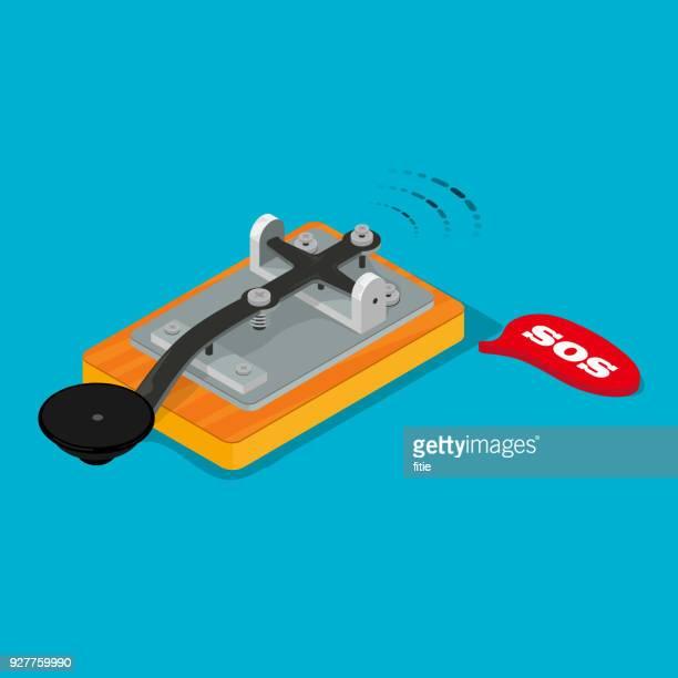 sos のモールス電信 - 紙テープ点のイラスト素材/クリップアート素材/マンガ素材/アイコン素材