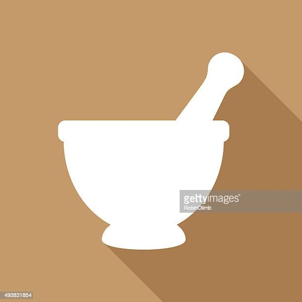 mortar and pestle icon - mortar and pestle stock illustrations, clip art, cartoons, & icons