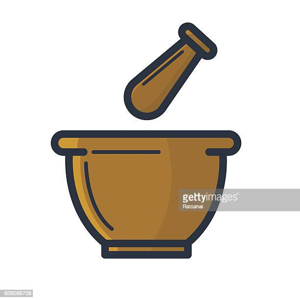 mortar and pestle - mortar and pestle stock illustrations, clip art, cartoons, & icons