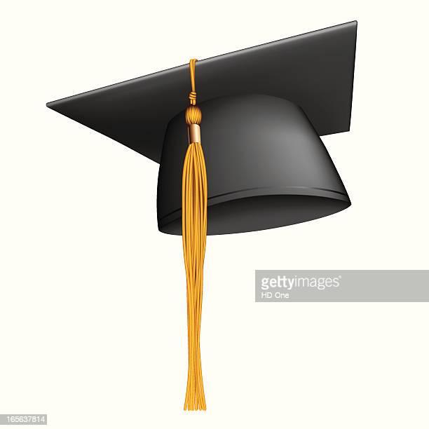 mortar board/graduation cap - tassel stock illustrations