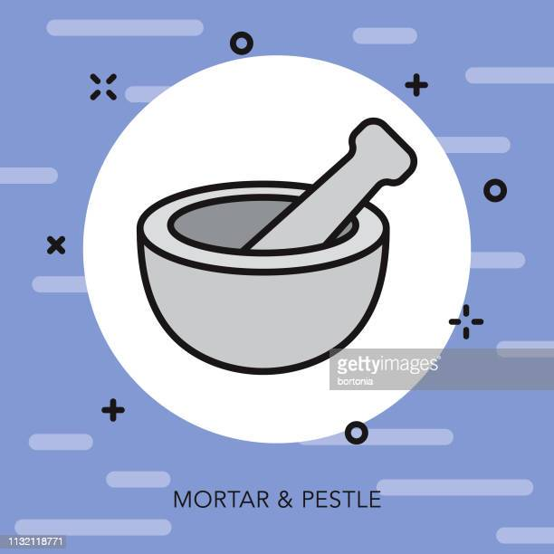 mortar & pestle spa icon - mortar and pestle stock illustrations, clip art, cartoons, & icons