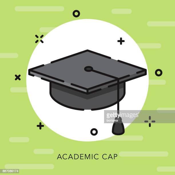 Icono de educación Mortarboard contorno abierto 75f60ad5c46