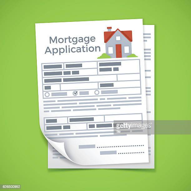 mortgage application documents - loan stock illustrations