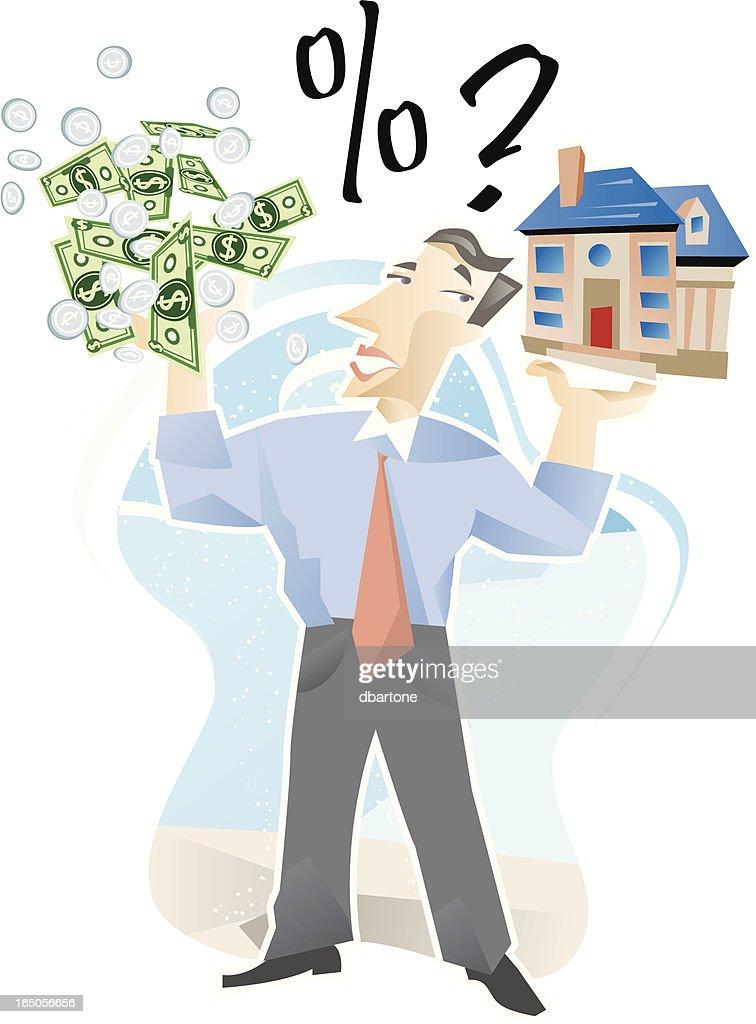 Mortgage Dilema : stock vector