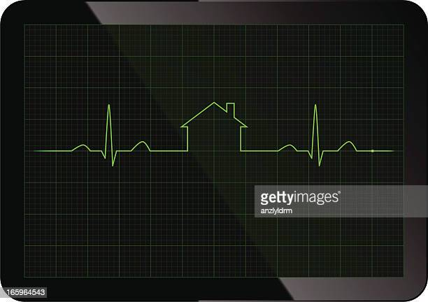 mortgage ecg - listening to heartbeat stock illustrations, clip art, cartoons, & icons