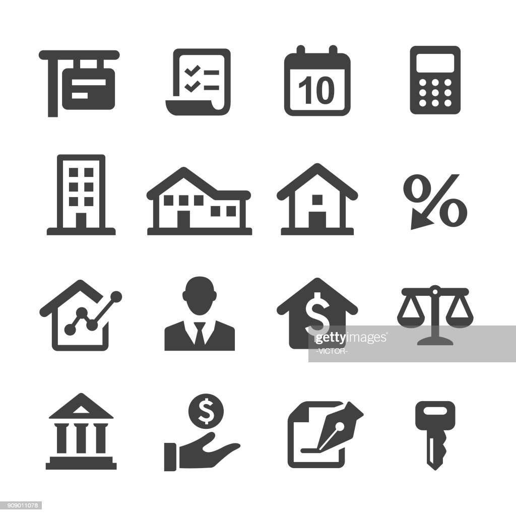 Mortgage Icons - Acme Series : stock illustration