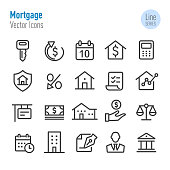 Mortgage Icons - Vector Line Series