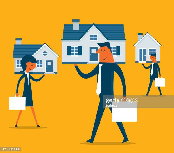 mortgage loan - chubby credit stock illustrations