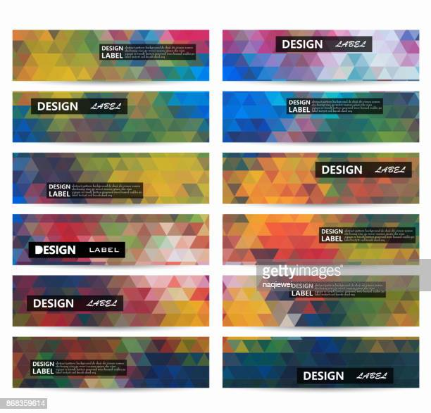 mosaic colorful banner background - rhombus stock illustrations