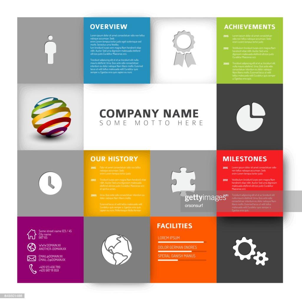 Mosaic Company profile template