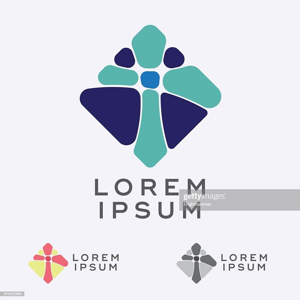 Mosaic Cross Sign Design Element