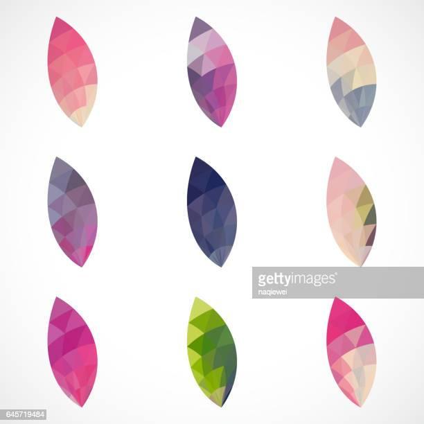 mozaïek ovale patroon pictogram