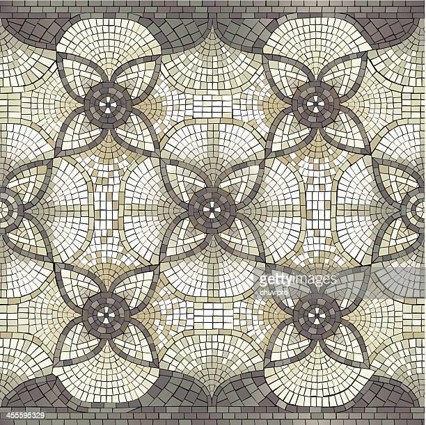 Mosaik nahtlose Floral ornament
