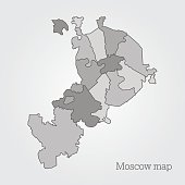 Moscow administrative map