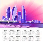 2019 Moscow city calendar