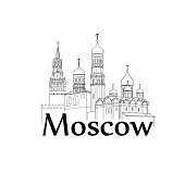 Moscow Kremlin tower, cathedral Travel Russia sign Russian landmark