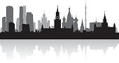 Moscow Russia city skyline silhouette