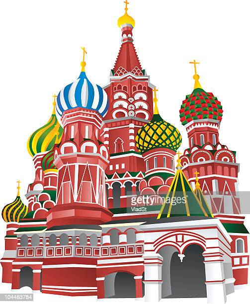 moscow - red square stock illustrations, clip art, cartoons, & icons
