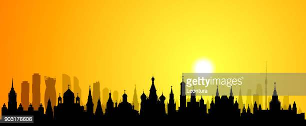 moscow (all buildings are complete and moveable) - red square stock illustrations, clip art, cartoons, & icons