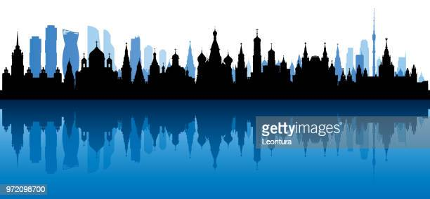 moscow (all buildings are complete and moveable) - place of worship stock illustrations
