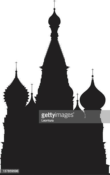 moscow's saint basil's cathedral - red square stock illustrations, clip art, cartoons, & icons