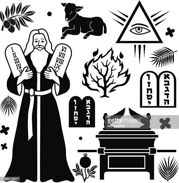 モーゼズの十戒 - 宗教的人物 モーゼ点のイラスト素材/クリップアート素材/マンガ素材/アイコン素材