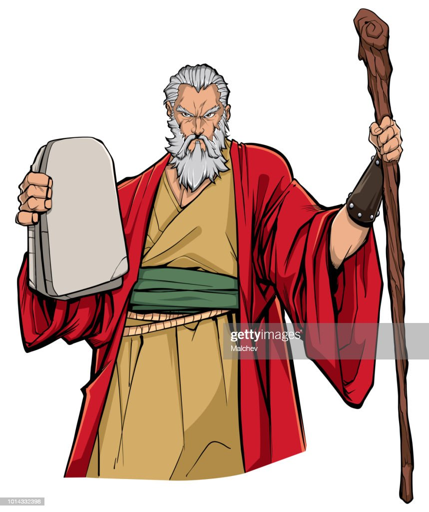 Moses Portrait Illustration