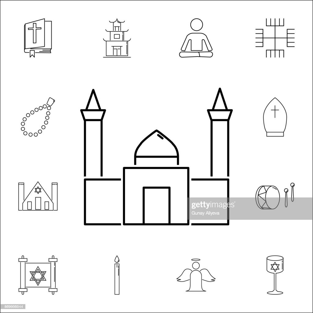 mosque icon. Set of religion icons. Web Icons Premium quality graphic design. Signs, outline symbols collection, simple icons for websites, web design, mobile app