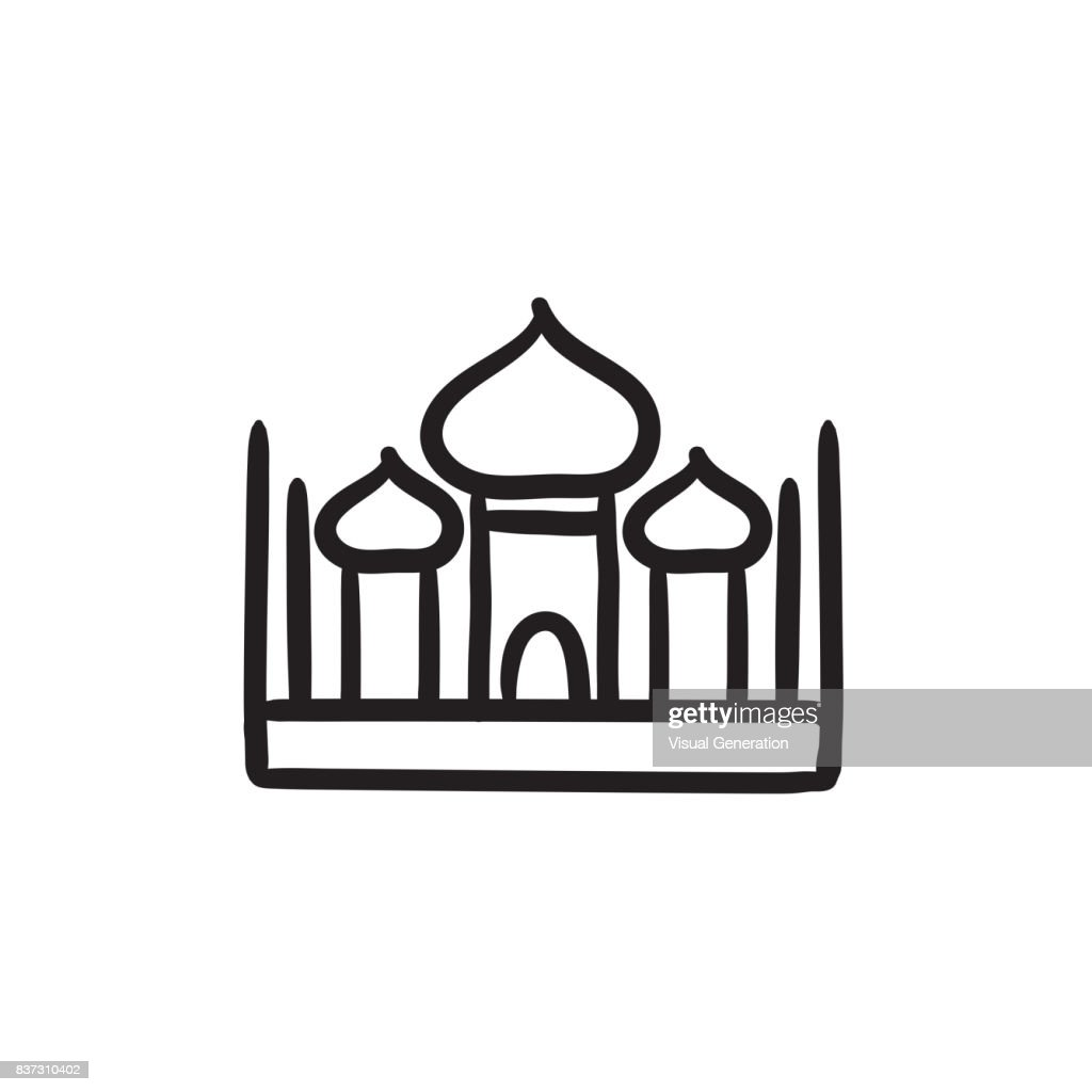 Mosque sketch icon
