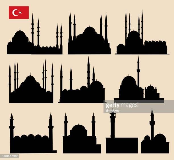 mosque - minaret stock illustrations