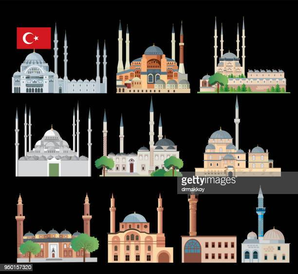 mosque - mosque stock illustrations
