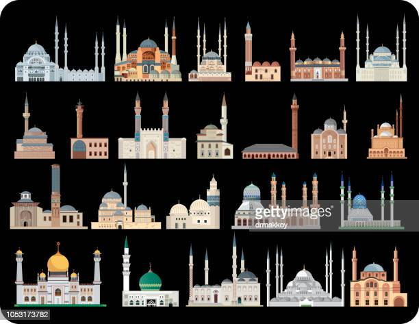 mosques - mosque stock illustrations