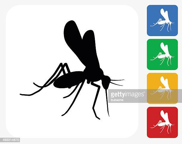 mosquito icon flat graphic design - pests stock illustrations