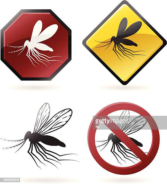 ilustraciones, imágenes clip art, dibujos animados e iconos de stock de mosquito iconos de - mosquito