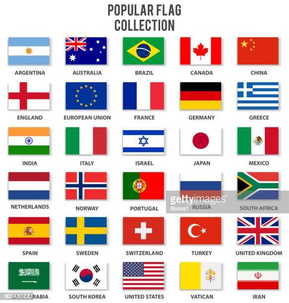 ilustrações, clipart, desenhos animados e ícones de coleção de bandeira mais popular - portugal